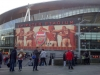 Outside the Emirates Stadium