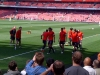 Man Utd plyers warming up before Arsenal vs Man Utd Season 2010-11