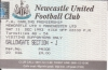 Standing ticket for Gallowgate away section Newcastle Utd vs Man Utd 1993-94