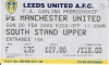 leeds Utd vs man Utd - away end ticket stub 1999-2000