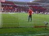 Anders Lindegaard warming up at St Mary;s January 2011