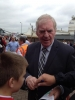 Lawrie McMenemy outside St Mary's Season 2012-13