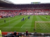Players warm up, before Sunderland vs Man Utd premier League Season 2011-12