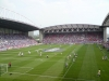 Players warming up before Wigan vs Man Utd May 2008