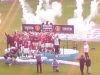 view from away end as man Utd lift PL title at Wigan in May 2008