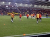 Man Utd players warming up, before Blackpool vs Man Utd January 2011