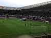 Swansea vs Man Utd, view from away section, December 2012