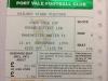My ticket stub from Port Vale vs Man Utd in 1994