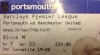 My ticket stub from Portsmouth away