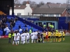 Players line up for Tranmere v Wimbledon