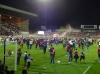 Fans invade the pitch after 5 - 5 draw with Blades to get to Wembley