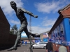 Statue of Hugh Mcllmoyle outside Brunton Park