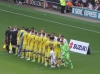 Player line up before MKD v Leeds, Sept 2015