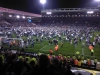 Promotion pitch invasion after a 1-1 draw against Southampton