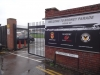 Main entrance, Rodney Parade, Newport v Blackburn FAC Jan 16