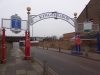 The entrance to Kingsmeadow. Feb 2016 AFC Wimbledon v Luton T