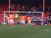 Kenny Davis scores the Braintree winner frm the spot