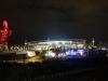 London Stadium after dark WHU v Domzale Aug 2016