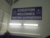 Welcome to away fans in Bullens Road Stand at Goodison Park