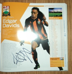 Barnet FC Edgar Davids Autograph
