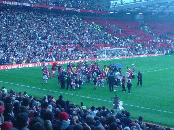 Manchester United winning the League in 2007
