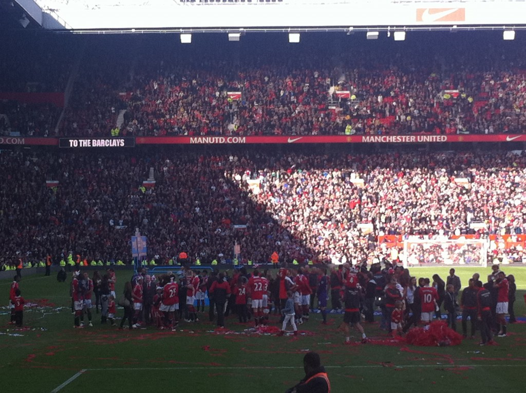 United picking up their 19th League title.