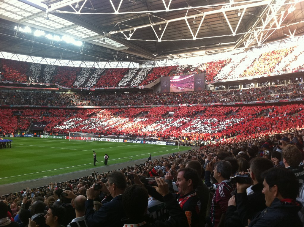 The United end for the 2011 Champions League Final