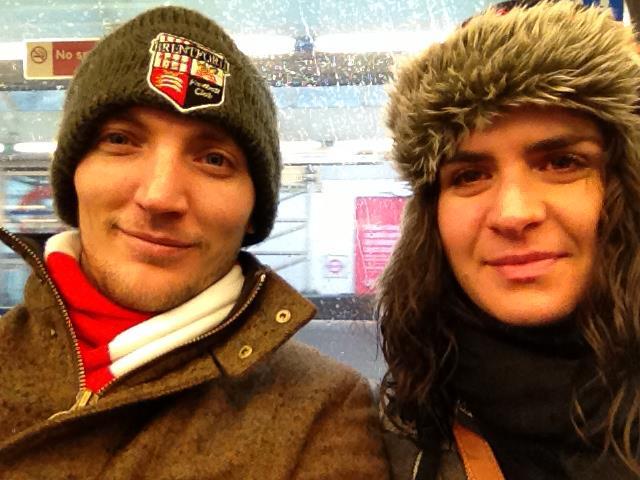 Rhys and girlfriend Anna