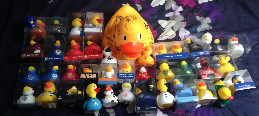 Football rubber ducks