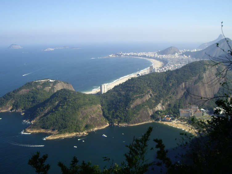 Panoramic of the Copacabana from the Sugar Loaf.