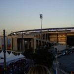 The Maracana in a sunset tone.