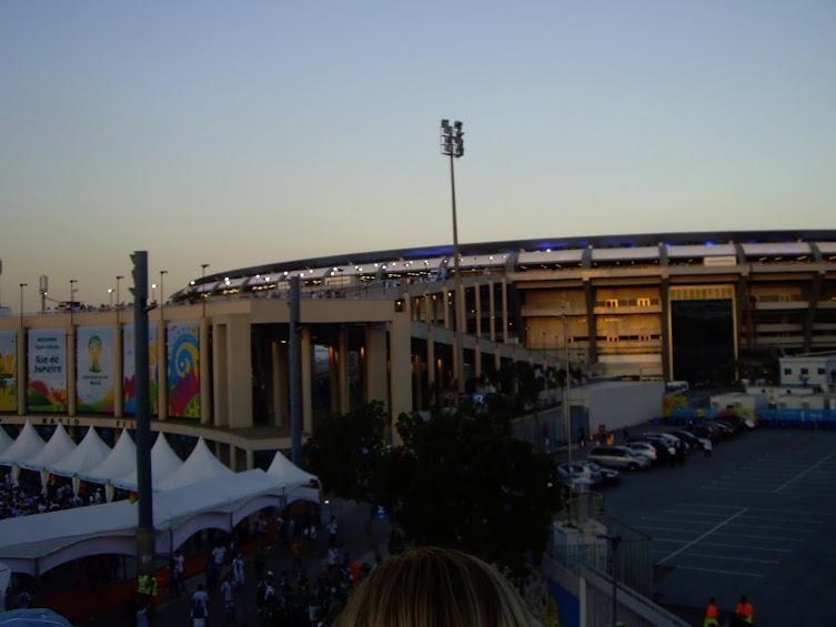 The Maracana in a sunset tone.