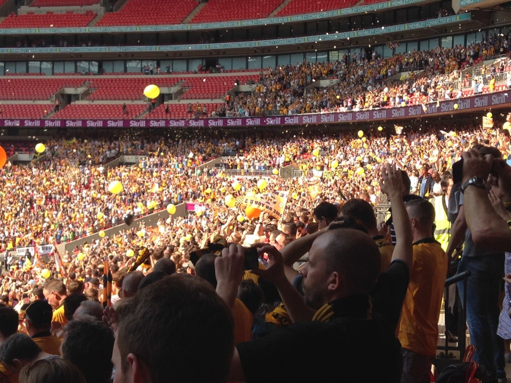 cambridge united fans play off final