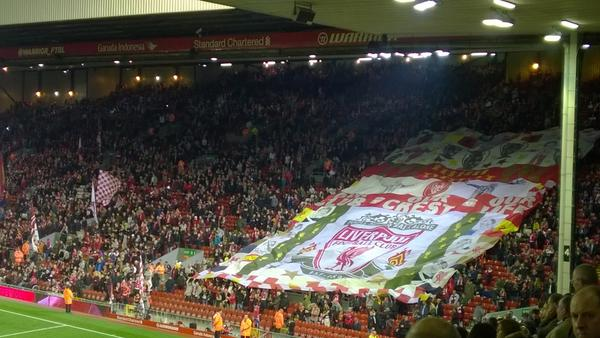Anfield Kop the home of Liverpool FC