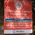 Accrington Stanley storefirst.com stadium crown ground sign
