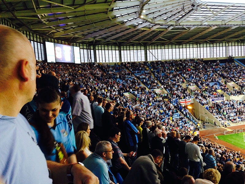 Coventry city return home to the ricoh arena