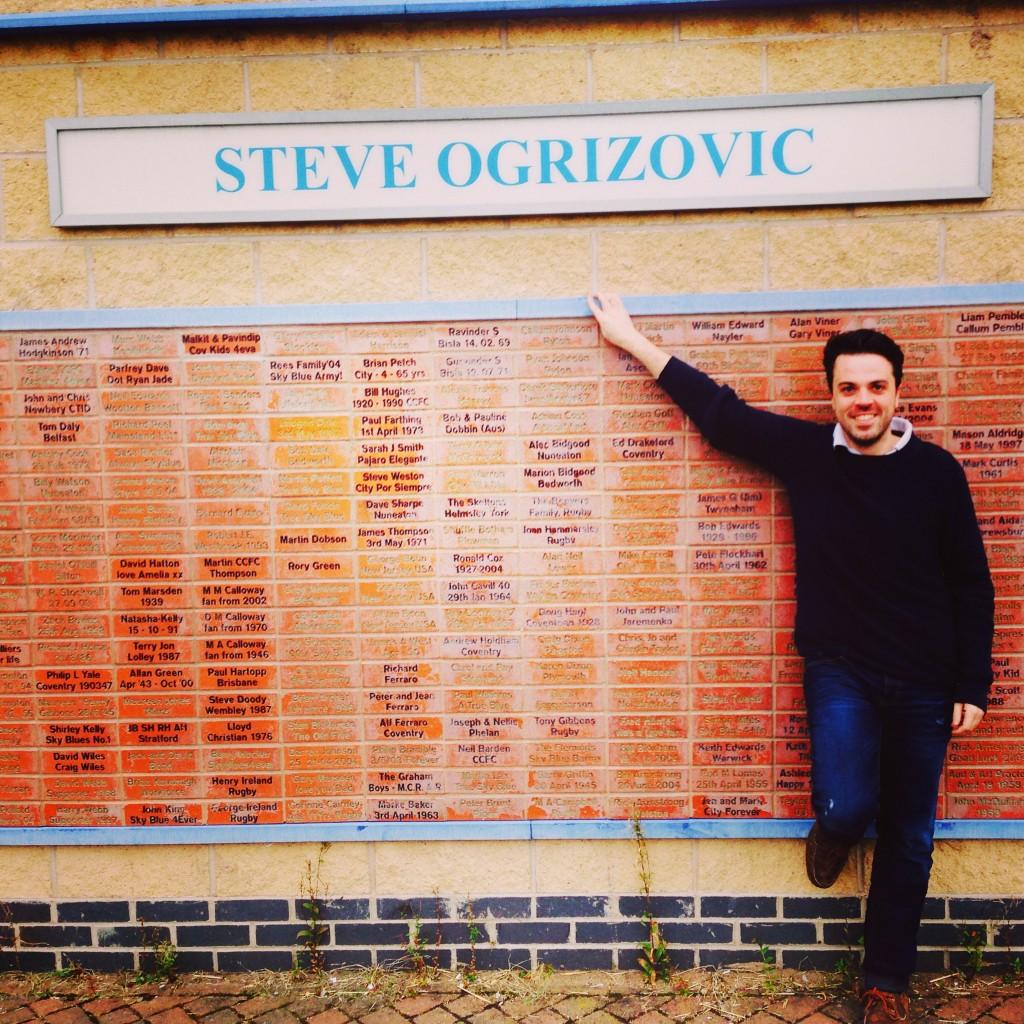 The fans Steve Ogrizovic wall at the ricoh arena, coventry