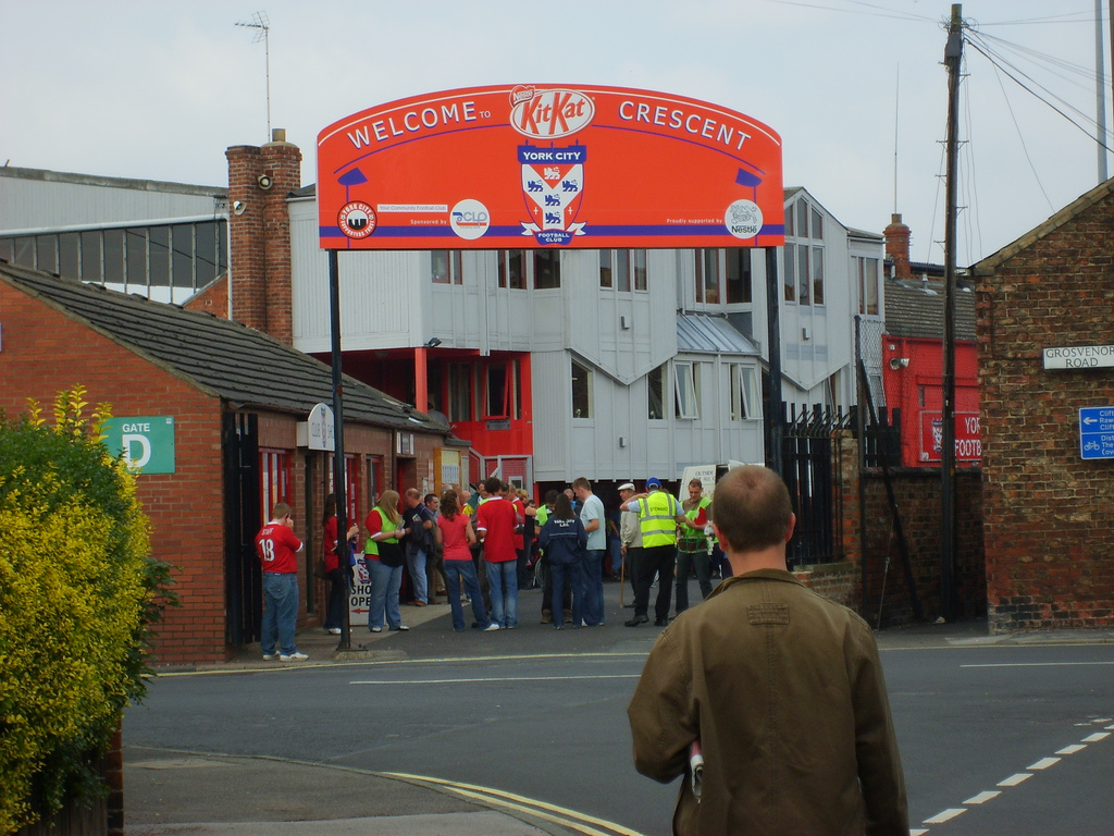 Bootham Crescent once Kitkat Crescent the home of York City
