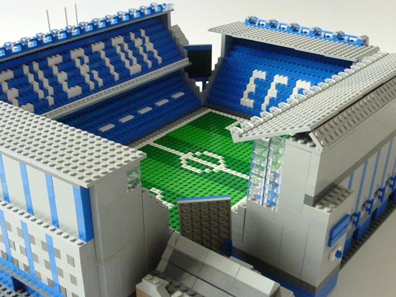 Everton Goodison Park Lego Brick Stand
