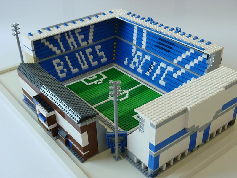 Birmingham City St Andrews Lego Brick Stand