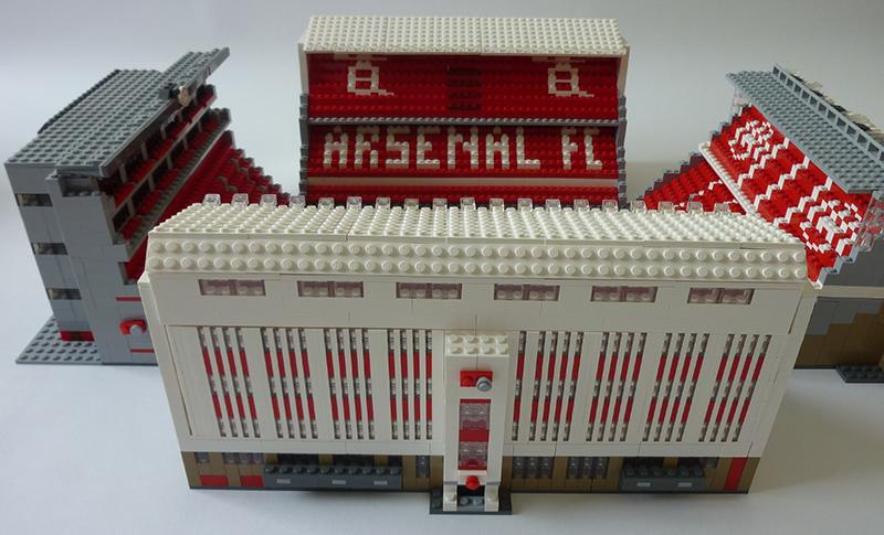 Arsenal's Highbury Stadium Lego Brick Stand