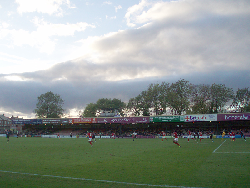York City v Mansfield League two 2014 Bootham Crescent