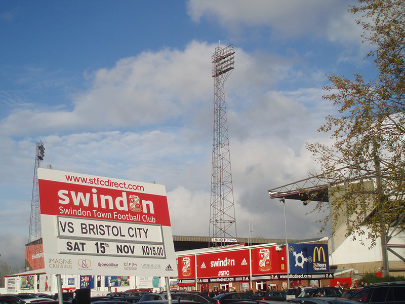 Swindon Town's County ground before the visit of Bristol City
