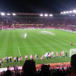 Stoke City's Britannia Stadium just before kick off in the Capital One Cup against Southampton