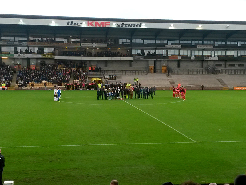 Minutes silence for remembrance day at Vale Park