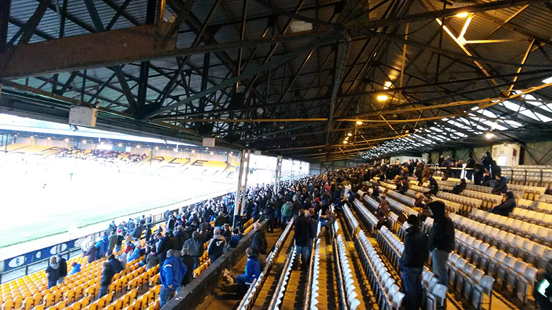 Looking down the Railway stand Vale Park