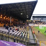 The Railway stand at Vale Park the home of Port Vale