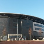 Outside view of stadium mk milton keynes