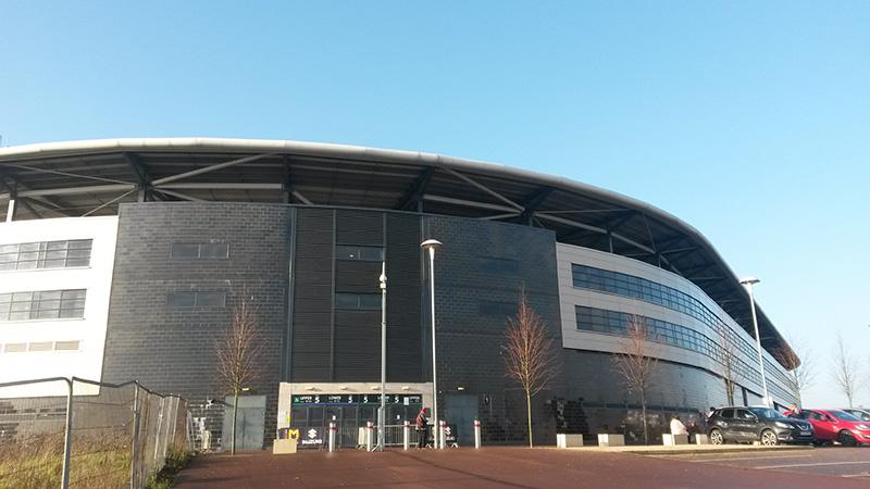 Outside view of stadium mk milton keynes