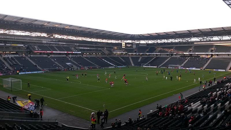 Stadium MK, home of League One side Milton Keynes Dons